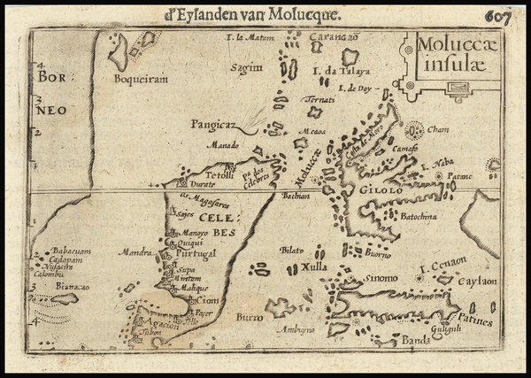 35-Indonesia and Other Islands Map By Petrus Bertius