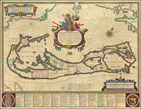79-Bermuda Map By Willem Janszoon Blaeu