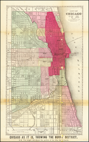 94-Chicago Map By Gaylord Watson