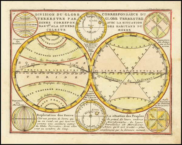 89-World and Celestial Maps Map By Jacques Chiquet