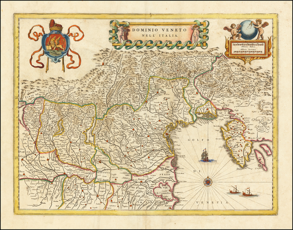 96-Northern Italy Map By Willem Janszoon Blaeu