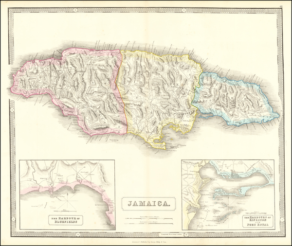 58-Jamaica Map By George Philip & Son