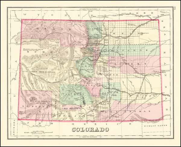 54-Colorado and Colorado Map By O.W. Gray