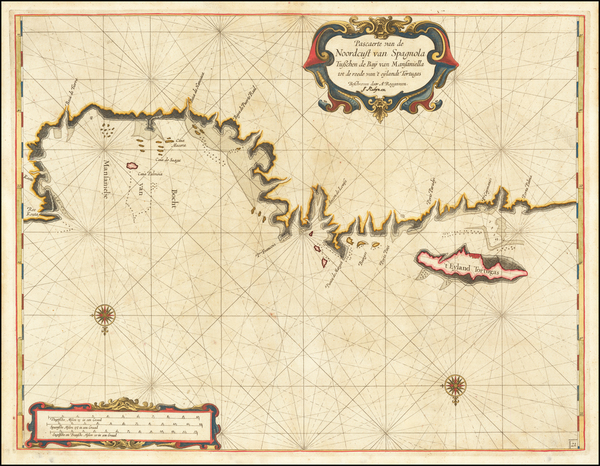 14-Caribbean Map By Arent Roggeveen / Jacobus Robijn