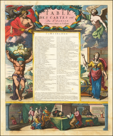 60-Curiosities and Title Pages Map By Cornelis Mortier