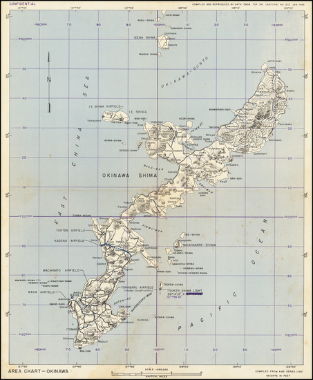70-Other Pacific Islands and World War II Map By 64th Engineer Base Topographic Battalion