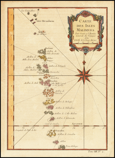 55-India and Other Islands Map By Jacques Nicolas Bellin