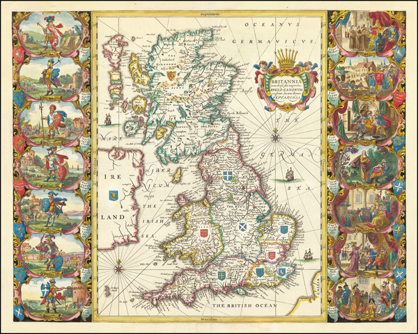 85-British Isles Map By Jan Jansson