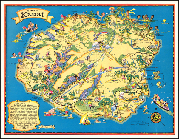 87-Hawaii, Hawaii and Pictorial Maps Map By Ruth Taylor White