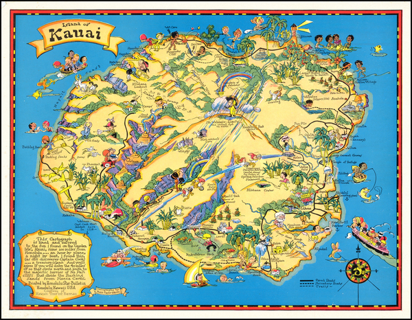 34-Hawaii, Hawaii and Pictorial Maps Map By Ruth Taylor White