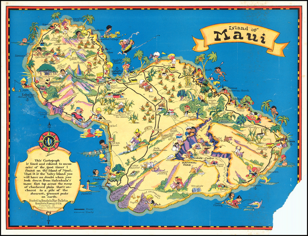 73-Hawaii, Hawaii and Pictorial Maps Map By Ruth Taylor White