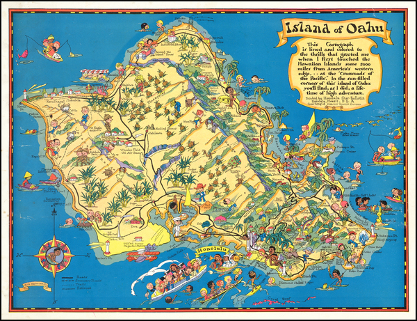 29-Hawaii, Hawaii and Pictorial Maps Map By Ruth Taylor White