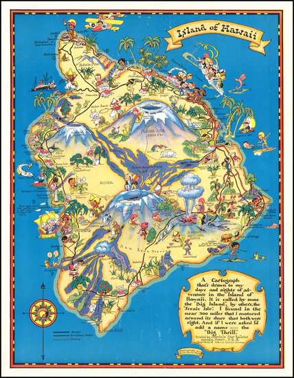 33-Hawaii, Hawaii and Pictorial Maps Map By Ruth Taylor White