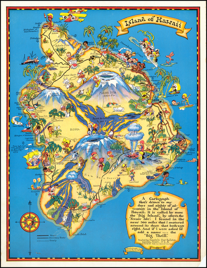 72-Hawaii, Hawaii and Pictorial Maps Map By Ruth Taylor White