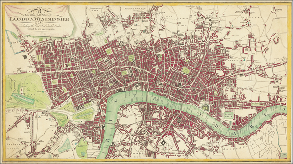 6-London Map By Thomas Tegg
