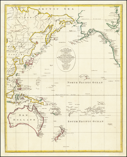 39-Pacific Ocean, Alaska, Hawaii, Australia, Oceania and Hawaii Map By John Lodge