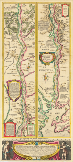 66-Russia and Ukraine Map By Willem Janszoon Blaeu