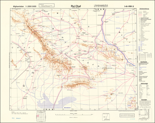 38-Central Asia & Caucasus and World War II Map By General Staff of the German Army