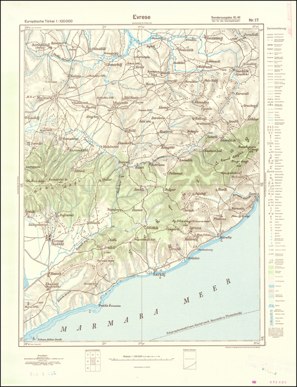 50-Greece and World War II Map By General Staff of the German Army