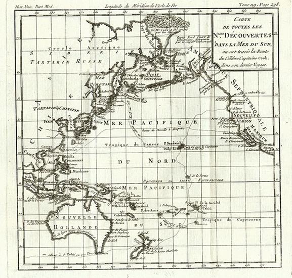 50-Alaska, Hawaii, Australia & Oceania, Oceania and Hawaii Map By Louis Brion de la Tour