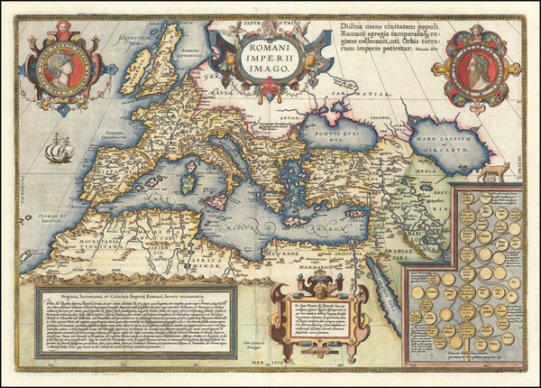 35-Europe, Italy, Mediterranean and Turkey & Asia Minor Map By Abraham Ortelius
