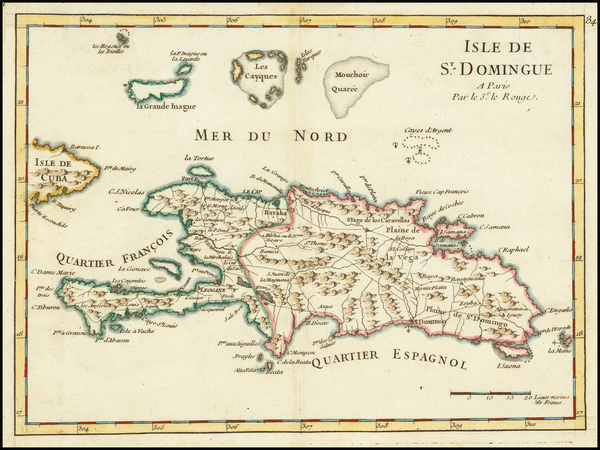 29-Hispaniola Map By George Louis Le Rouge