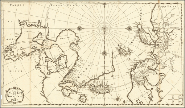 36-Polar Maps, Canada, Scandinavia and Iceland Map By J.F. Bernard