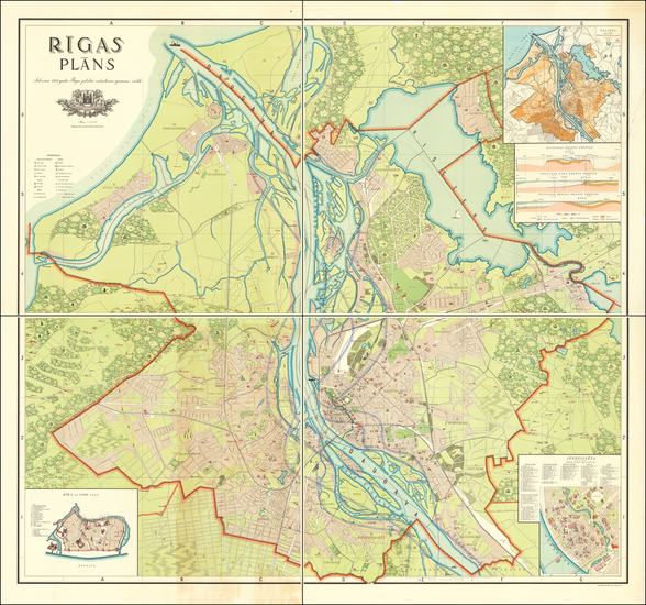 62-Baltic Countries Map By Riga City Real Estate Board