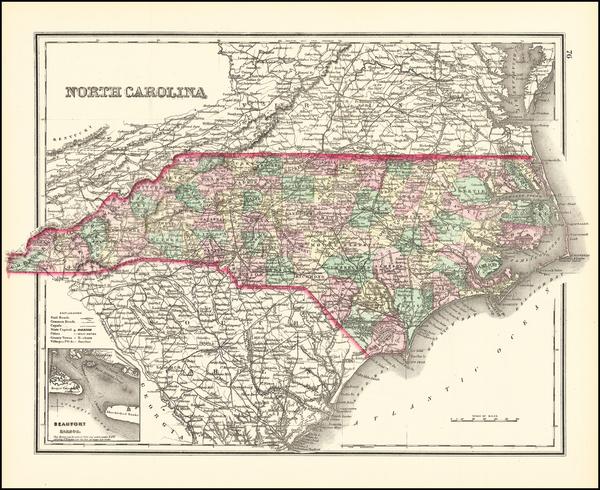 58-North Carolina Map By O.W. Gray