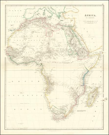 13-Africa Map By John Arrowsmith