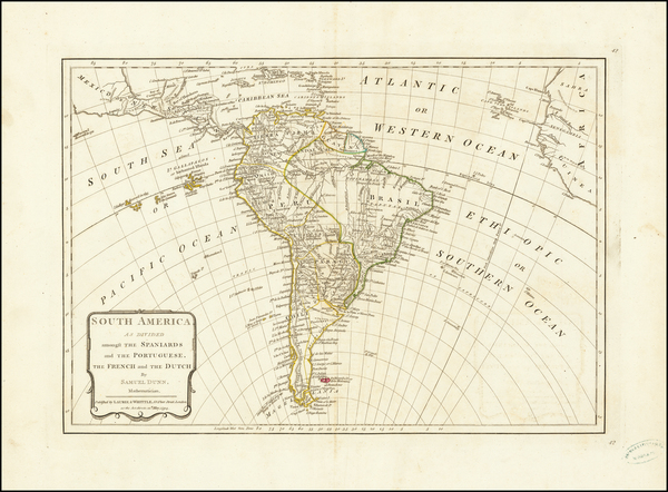 90-South America Map By Samuel Dunn