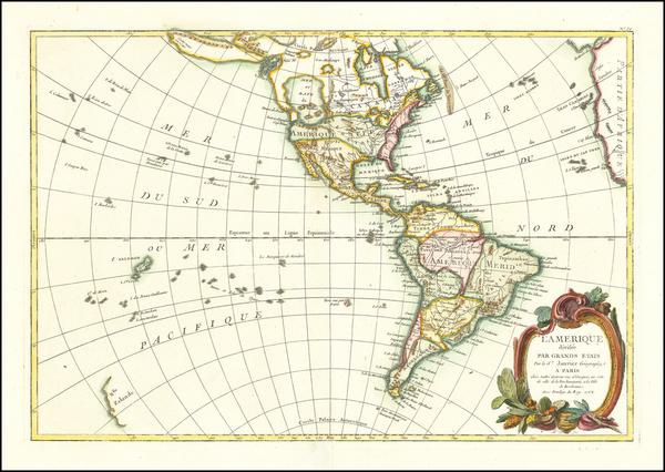 71-America Map By Jean Janvier
