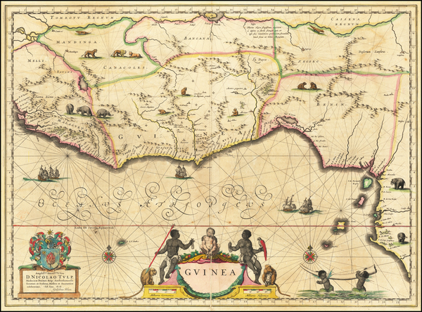 92-West Africa Map By Willem Janszoon Blaeu