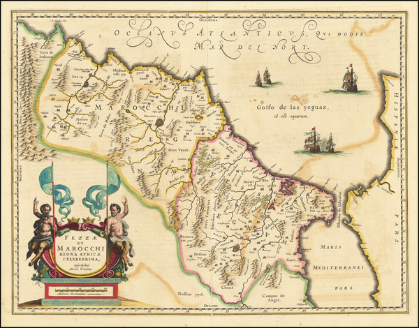 70-North Africa Map By Willem Janszoon Blaeu