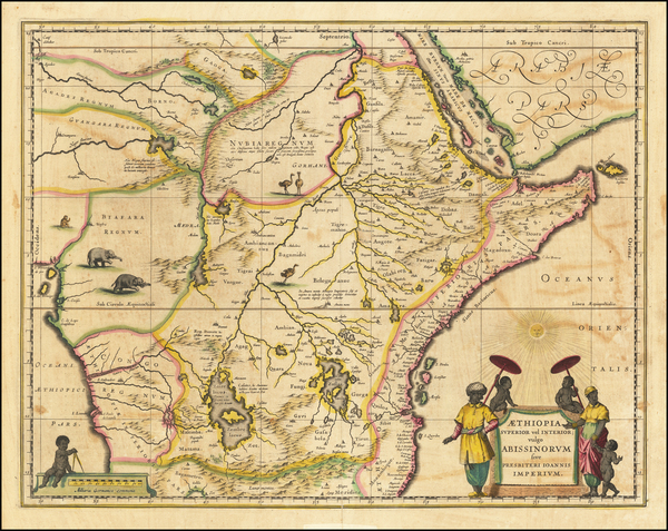 100-East Africa and West Africa Map By Willem Janszoon Blaeu