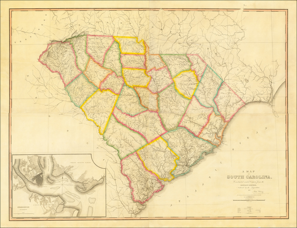 14-South Carolina Map By John Wilson