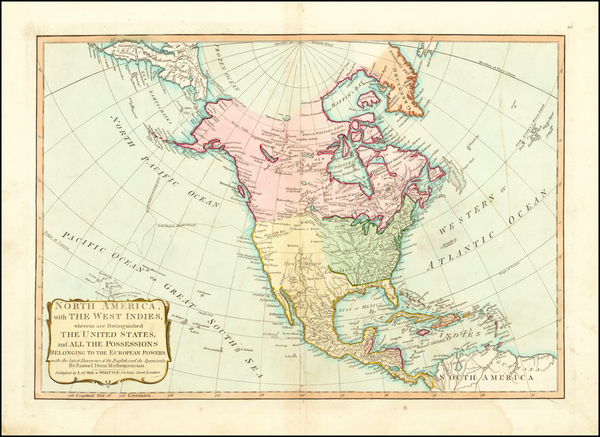 15-United States and North America Map By Samuel Dunn