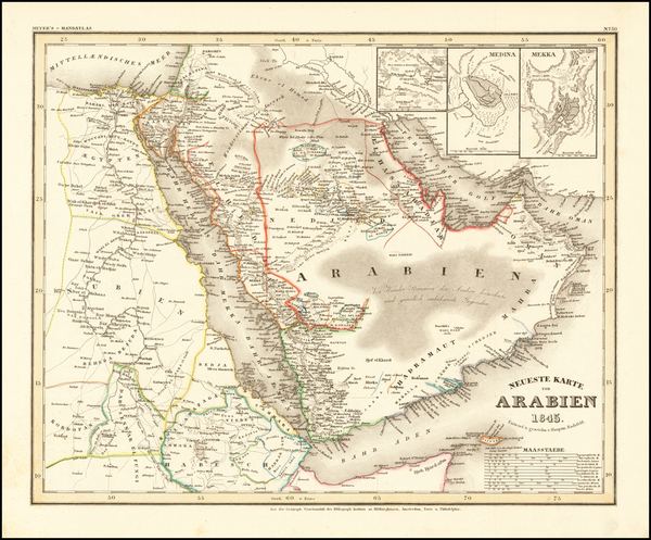 57-Middle East and Arabian Peninsula Map By Joseph Meyer