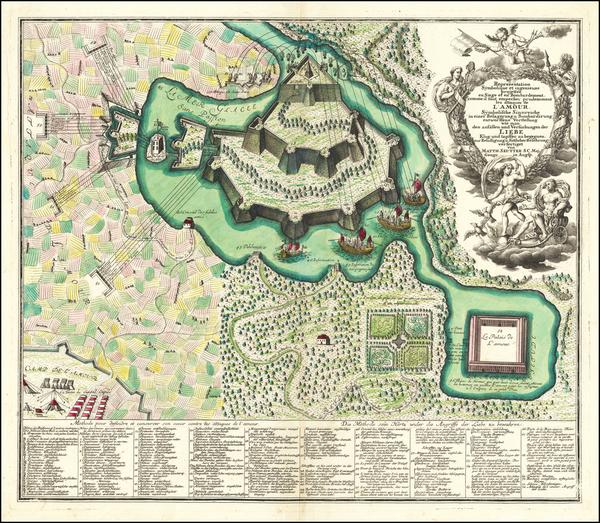64-Curiosities Map By Matthaus Seutter