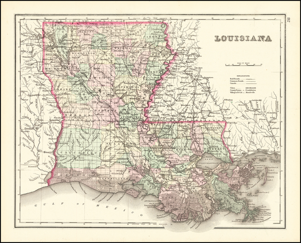 90-Louisiana Map By O.W. Gray