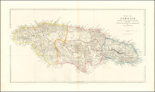 8-Jamaica Map By John Arrowsmith