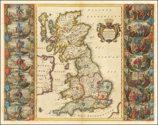 52-British Isles Map By Willem Janszoon Blaeu