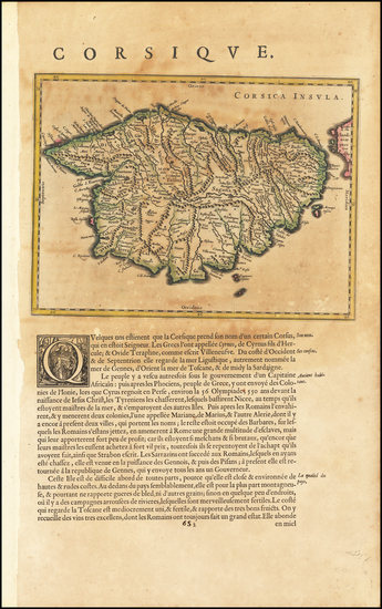 53-Corsica Map By Willem Janszoon Blaeu