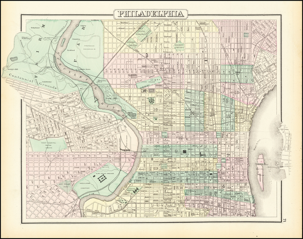 56-Philadelphia Map By O.W. Gray