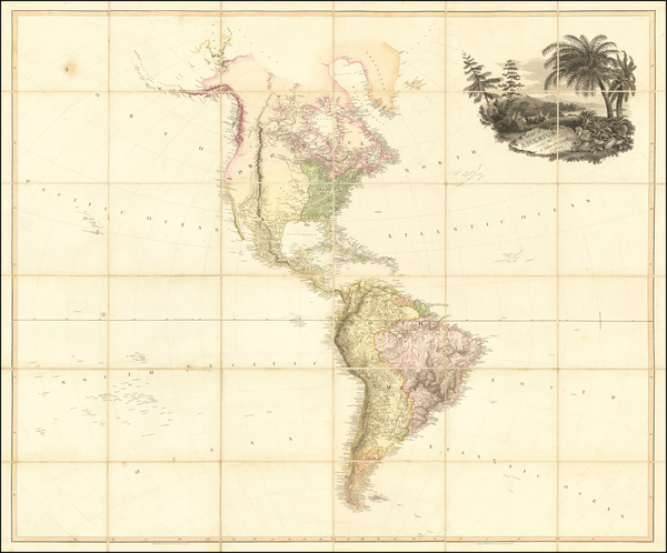 71-South America and America Map By Aaron Arrowsmith