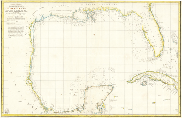 29-Florida, South, Southeast, Texas and Caribbean Map By Direccion Hidrografica de Madrid