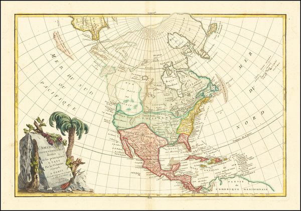 48-North America Map By Jean Janvier