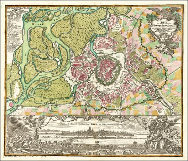 38-Austria Map By Matthaus Seutter