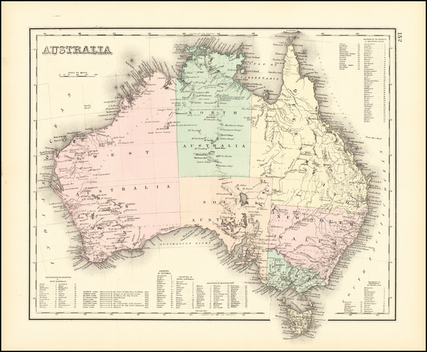 55-Australia Map By O.W. Gray
