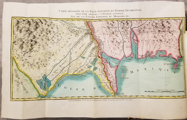 56-Louisiana, Midwest and Rare Books Map By Pierre-Louis Berquin Duvallon